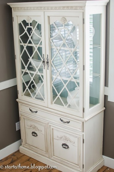 party features - painted hutch, Start At Home