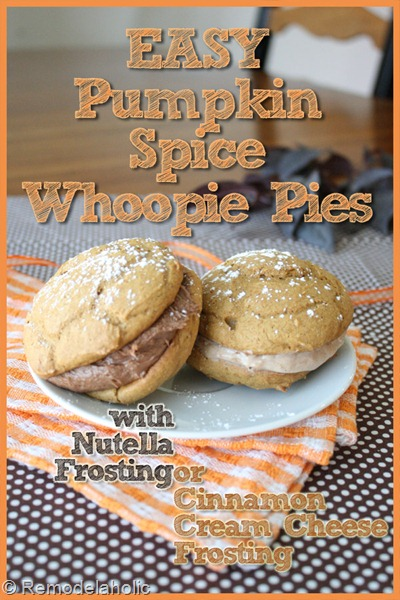 pumpkin spice whoopie pies with nutella frosting, Remodelaholic