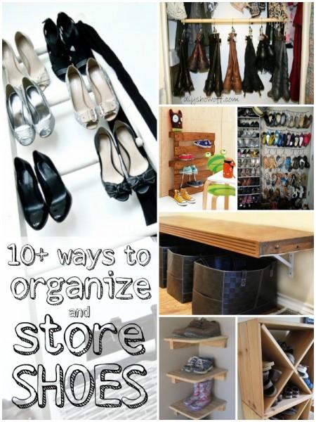 shoe storage and organization ideas via Remodelaholic