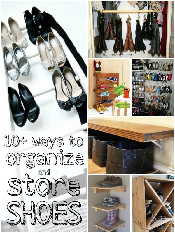 DIY Shoe Storage and Organization Ideas from Remodelaholic.com #shoes #organize #storage @Remodelaholic