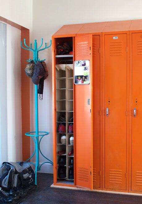 Shoe Storage Ideas   Add A Shoe Organizer In A Mudroom Locker, Via  Apartment Therapy