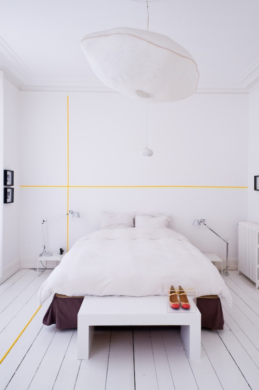 washi tape home decor - accent wall graphics, Remodelista