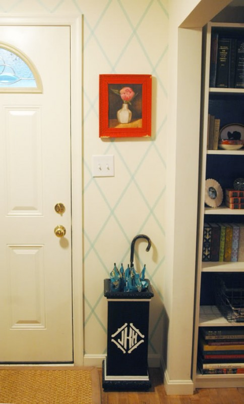 washi tape home decor - create a geometric accent wall, Little Green Notebook