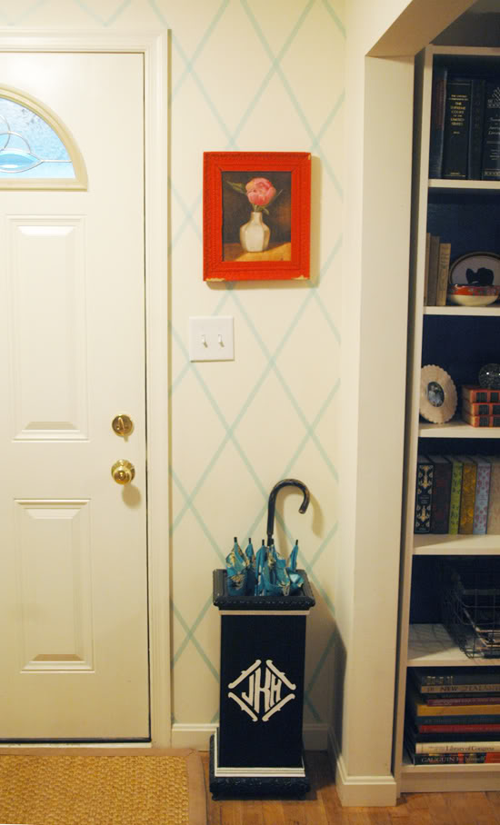 Washi tape home decor ideas remodelaholic for Geometric accent wall