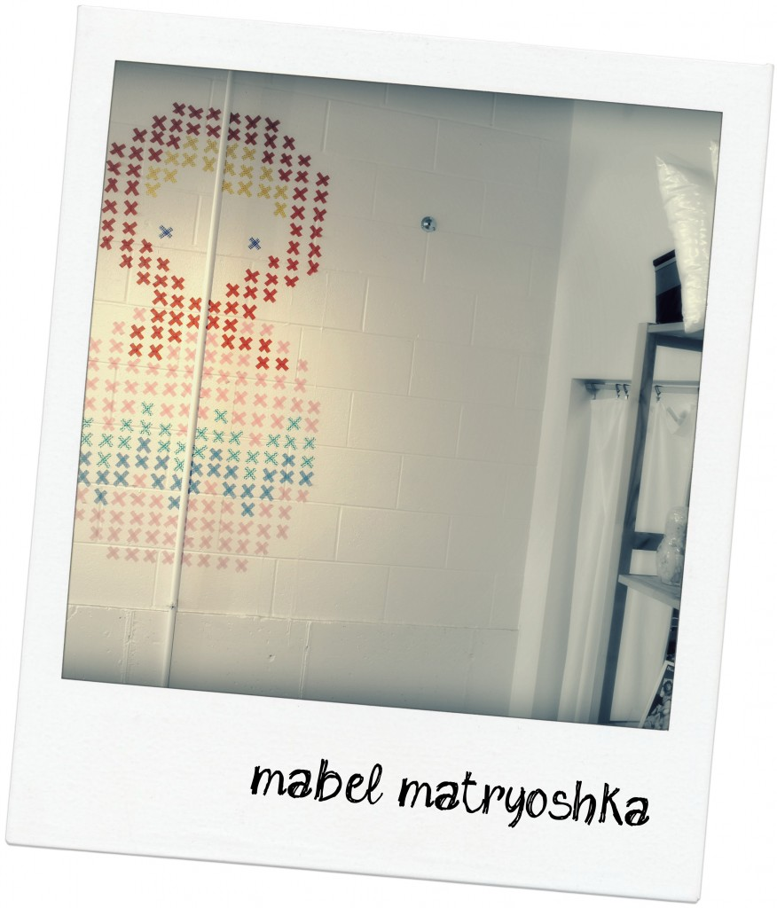 Fresh washi tape home decor cross stitch wall mural Sewn Studio