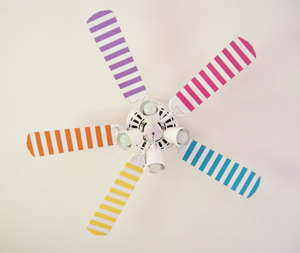 washi tape home decor - decorate ceiling fan, In My Own Style