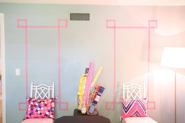 Washi Tape Wall Art washi tape home decor ideas | remodelaholic