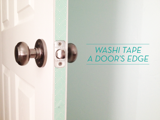 washi tape home decor - door edges, Design Crush Blog