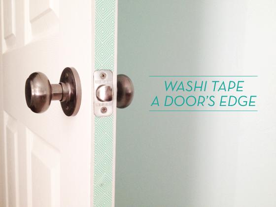 washi tape home decor - door edges, Design Crush Blog