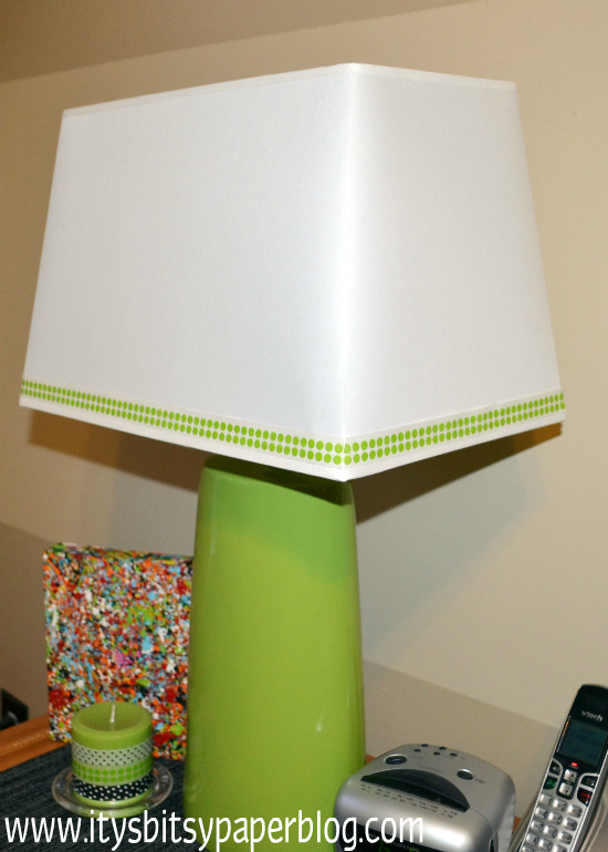 washi tape home decor - lamp shade, Itsy Bitsy Paper Blog