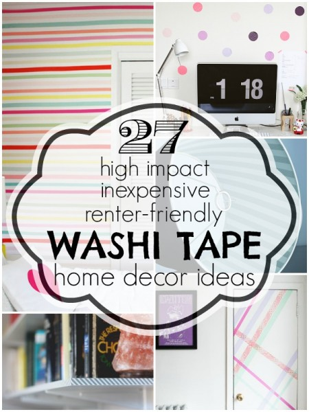 27 Washi Tape Home Decor Ideas | @Remodelaholic #home #decor #accent #washi