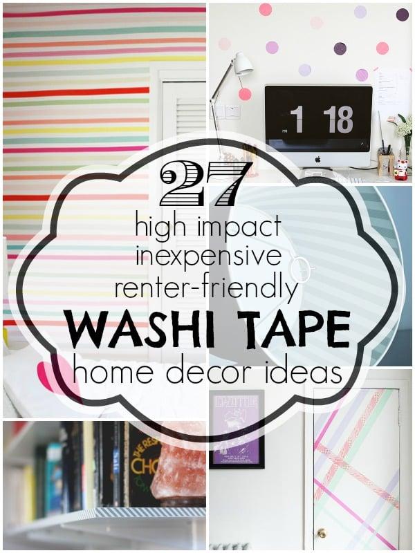 Washi Tape Home Decor Ideas
