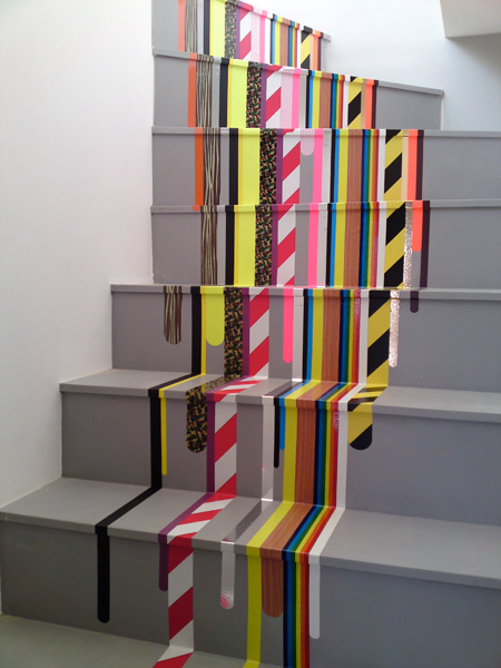 washi tape home decor - striped accent stairs, I am Pascal