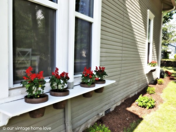 window box - tutorial for diy shelf with pots, Our Vintage Home Love