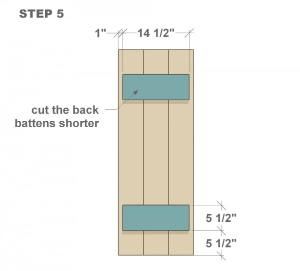 DIY wood shutter tutorial step five