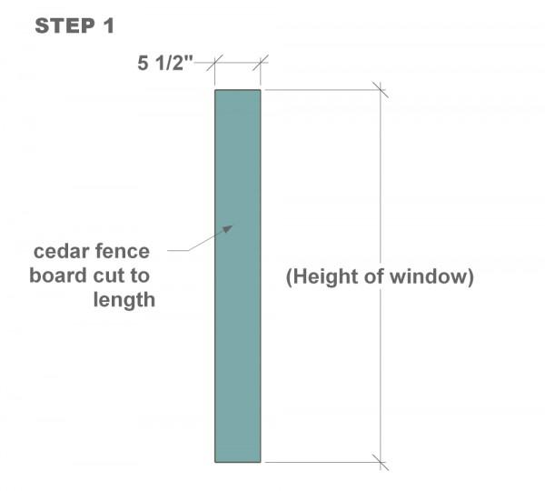 houten sluiter handleiding stap één