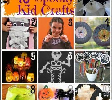 10 spooky kids crafts for Halloween via Tipsaholic.com