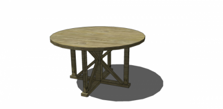 Antigua Round Table, Free Plans from The Design Confidential