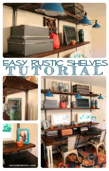 Easy Modern Rustic Wall Shelves  C2 B7 Easy Rustic Wall Shelves Tutorial