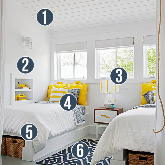 Modern Shared Boy Room: Get This Look: Sunny Shared Bedroom For