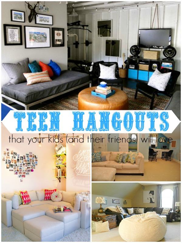 Remodelaholic top ten teen hangout areas and link party for Living room designs 10x10