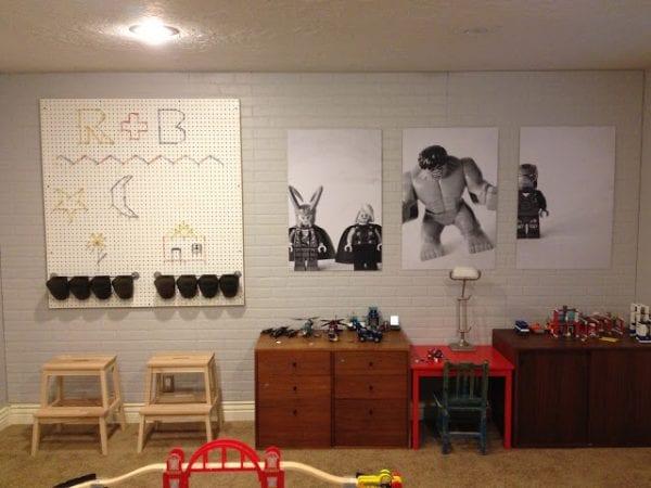 Big Boy Playroom I Am Momma Hear Me Roar Via Remodelaholic