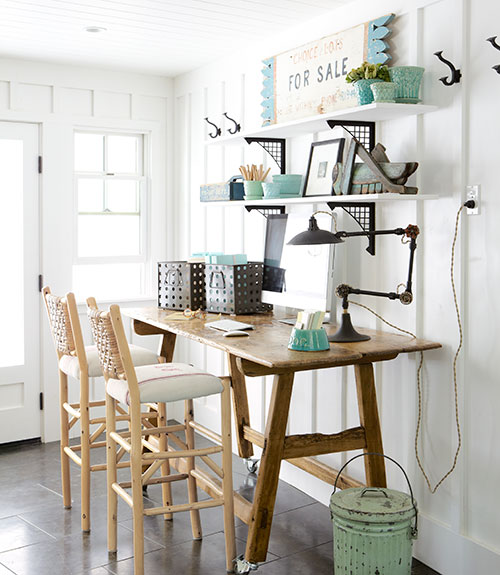 remodelaholic get this look easy home office with wall
