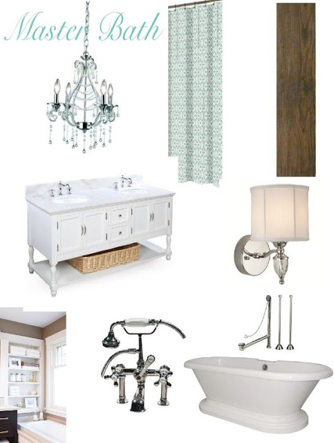 Remodelaholic | Elegant Master Bath Remodel with Built-in Shelving