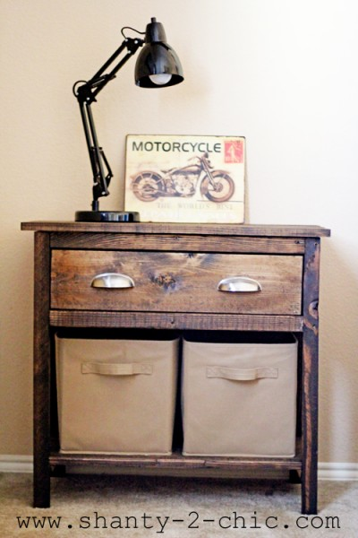 farmhouse nightstand, Shanty2Chic via Remodelaholic.com