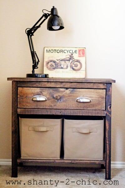 farmhouse nightstand, Shanty2Chic via Remodelaholic.com
