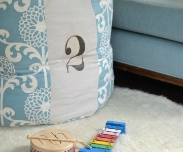 copycat Land of Nod floor cushion, featured on Remodelaholic