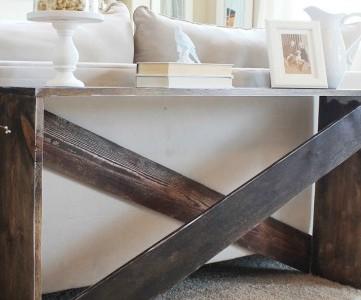 cute and easy DIY sofa table