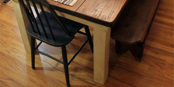 feature how to build a beautiful DIY farmhouse table, featured on Remodelaholic