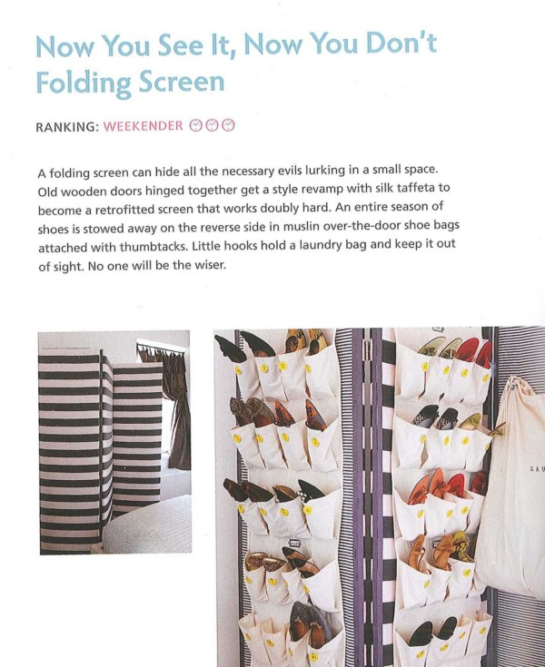 Folding Room Screen Shoe Organizer For Hidden Shoe Storage