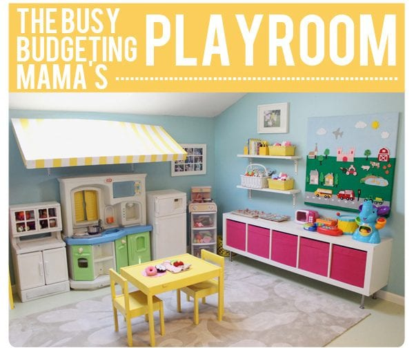 Remodelaholic top ten indoor kids play areas and link party for Playroom kitchen ideas