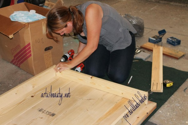 how to build a farmhouse table, featured on Remodelaholic.com