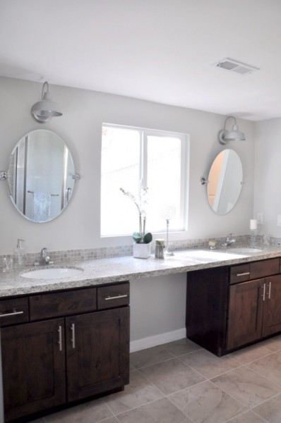 master bath remodel, Drew and Lindsay featured on Remodelaholic.com