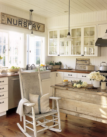 rustic country kitchen, Nancy Fishelson