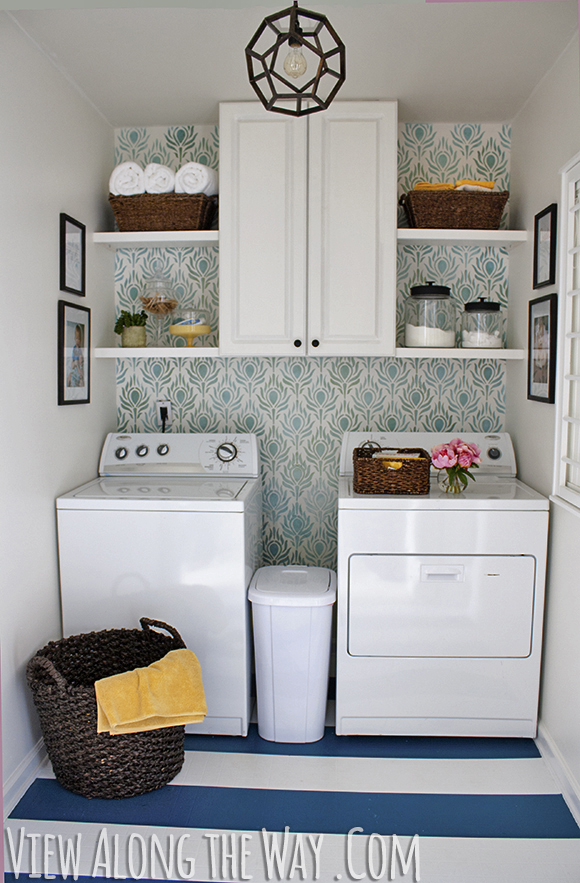 Small Laundry Room Makeover On A Budget View Along The Way