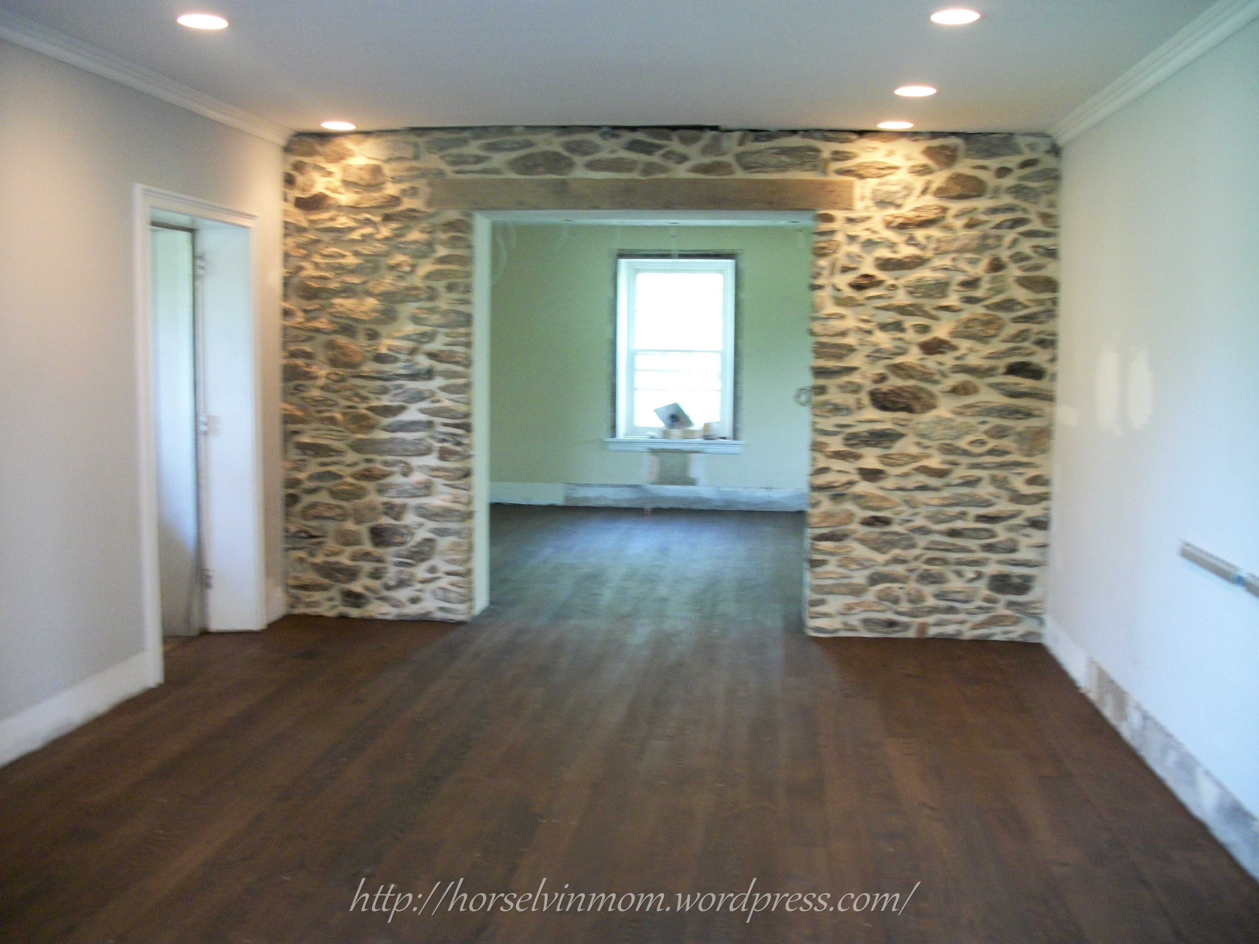 Remodelaholic white country kitchen remodel with marble for Stone floor renovation