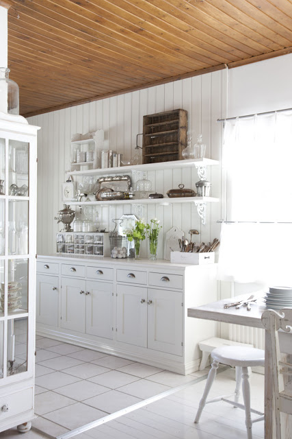 White Country Kitchen Images remodelaholic | white country kitchen remodel with marble backsplash