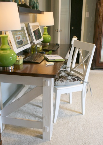 x computer desk, Remodelaholic