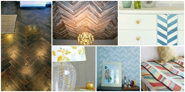 25 herringbone in home decor via remodelaholic