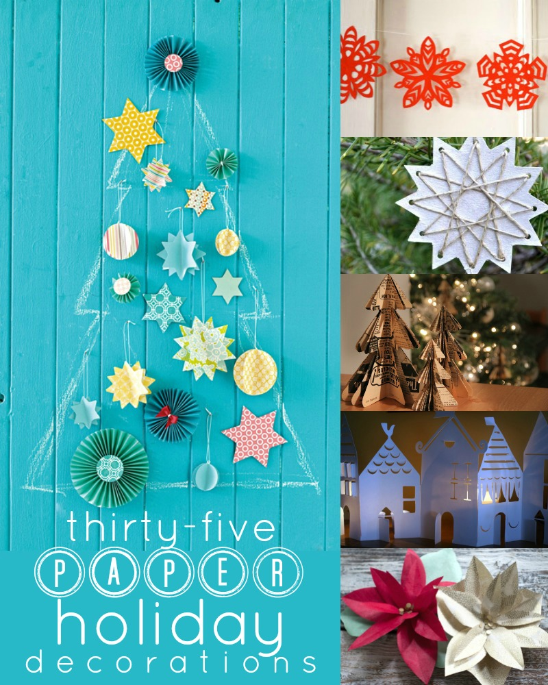 35 Paper Christmas Decorations To Make