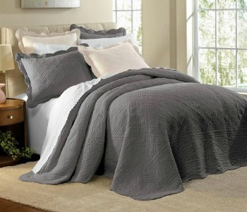 Remodelaholic | Get This Look: Dreamy White Bedroom : gray quilted bedspread - Adamdwight.com