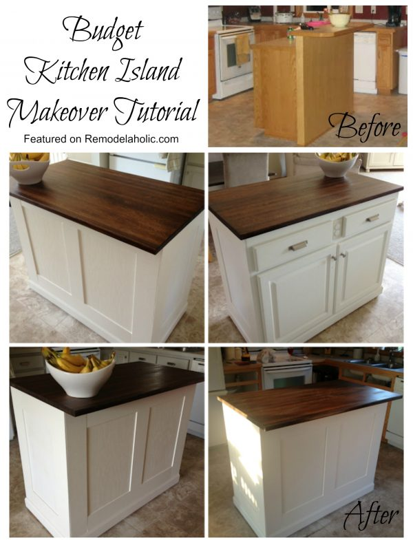 kitchen island makeover remodelaholic budget friendly board and batten kitchen 13491