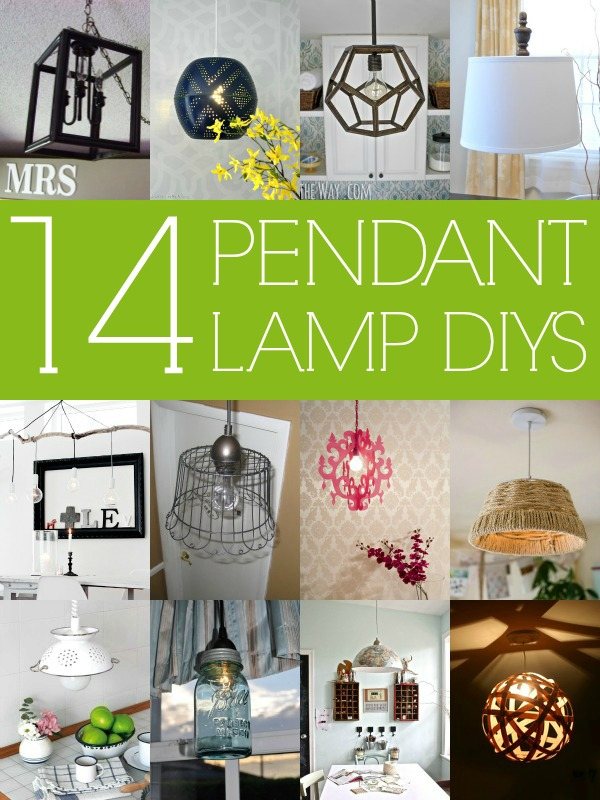 14 Stylish DIY Pendant Lights (with tutorials!) via Remodelaholic.com #diy