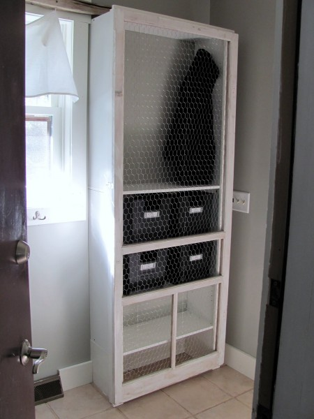 DIY laundry room storage locker, Emerald Cove on Remodelaholic