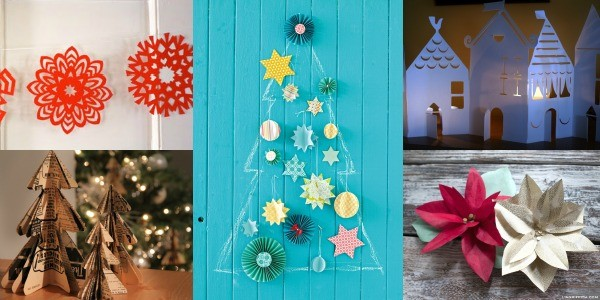 Lots of DIY paper christmas decorations on Remodelaholic.com
