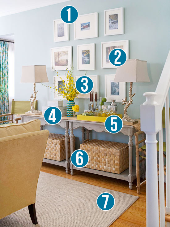 Get This Look   Doubled Up Console Table Buffet   7 Design Tips From  Remodelaholic.